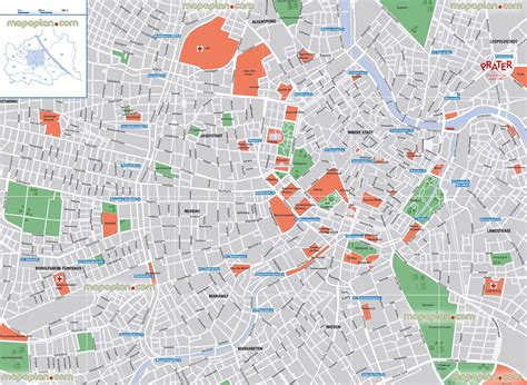vienna map  district