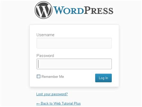 wordpress admin login page url   login
