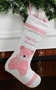 Baby, U0026, 39, S, First, Personalized, Christmas, Stocking, Girl