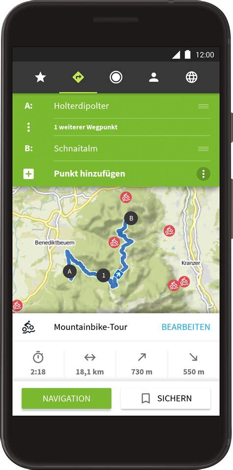 komoot apps mit ueberarbeitetem routenplaner