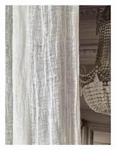 Rideau Lin Blanc : rideau voile de lin lav blanc mod le porto vecchio 120 x 280 cm le monde de rose ~ Teatrodelosmanantiales.com Idées de Décoration