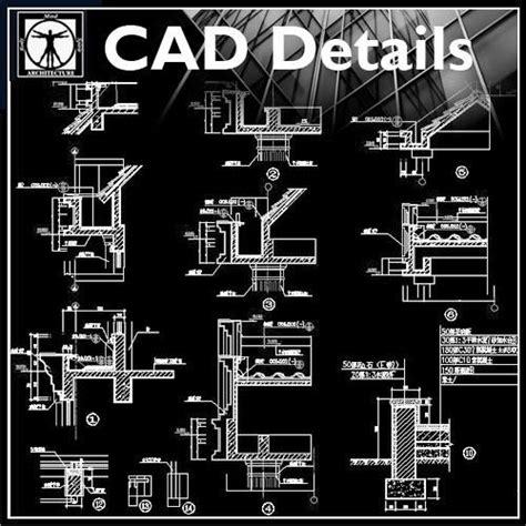 architecture details collection cad design free cad blocks drawings details