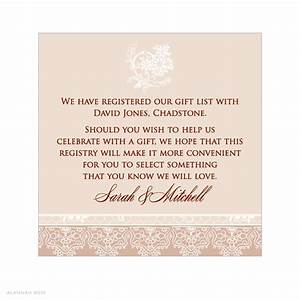 registry information on wedding invitations invitation With wedding shower registry