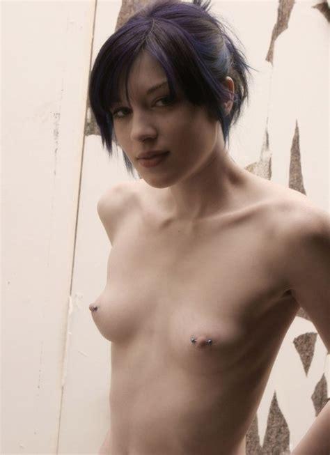 Brunette Small Tits Striptease