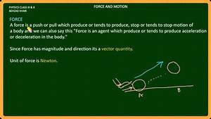 Force And Motion Part 1  Newton First Law Of Motion