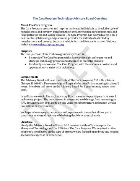 program tech advisory board overview