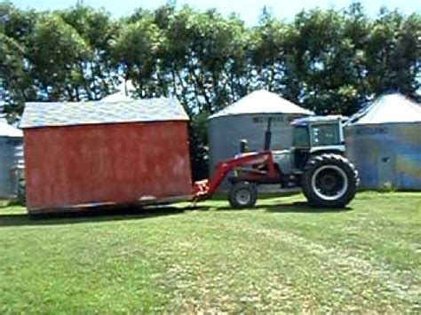 how to move a shed tractor moving shed