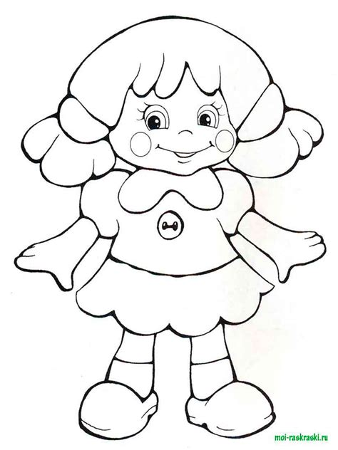 dolls coloring pages  printable dolls coloring pages