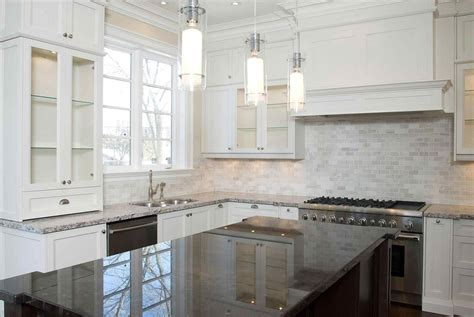 White Kitchen Tile Backsplash Ideas by 15 Gorgeous Backsplash White Cabinets Gray Countertop For