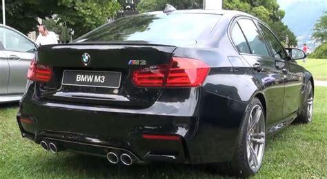 bmw supercar black video black bmw m3 revs at villa d 39 este 2014 gtspirit