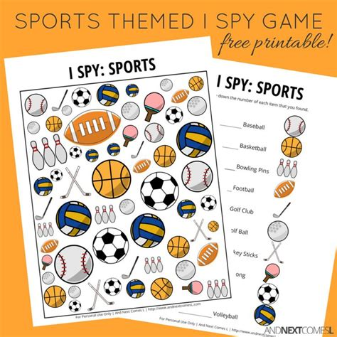 sports themed i free printable for and next comes l