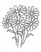 Coloring Flowers Flower Pages Wild Printable sketch template