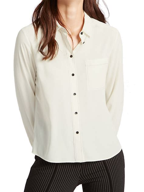 Marks and Spencer - - M&5 WINTER-WHITE Long Sleeve Button ...