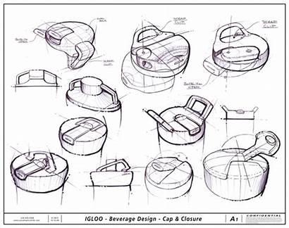 Industrial Sketch Sketches Development Cap Drawing Sketching