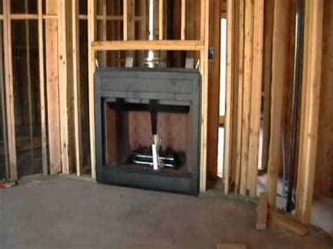 Building Process 29 Fireplace Installation Youtube Cost To