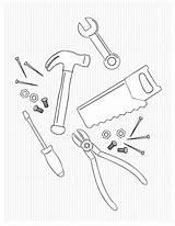 Coloring Tools Dad Toolbox Father Tool Basteln Fathers Dads Geschenke Werkzeug Clip Adult Selbstgemachte Abschied Zum Abschiedsgeschenk Erzieherin Projekte Werkzeuge sketch template