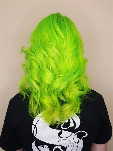 Spoiled Spa And Salon Neon Green Hair Bright Hair Colors
