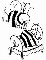 Coloring Pages Bee Bees sketch template