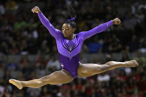simone biles leads olympic gymnastics trials  day