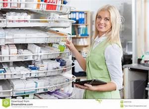 Female Pharmacist Holding Tablet PC Stock Photo - Image ...