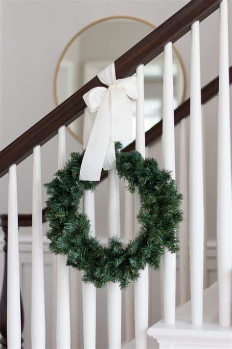 Hang Banister Wreaths Video  Thoughtful Place