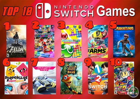 Top 10 Nintendo Switch Games Its My Favorite Day Of Top