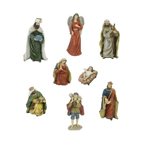 shop northlight 8 piece nativity figurine set at lowes com