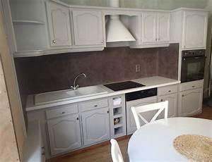 Peindre Faience Cuisine : meubles de cuisine et cr dence relook s le lutin malin relooking de meubles mobilier de ~ Melissatoandfro.com Idées de Décoration