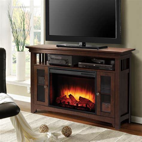 furniture fireplace tv stand costco white electric