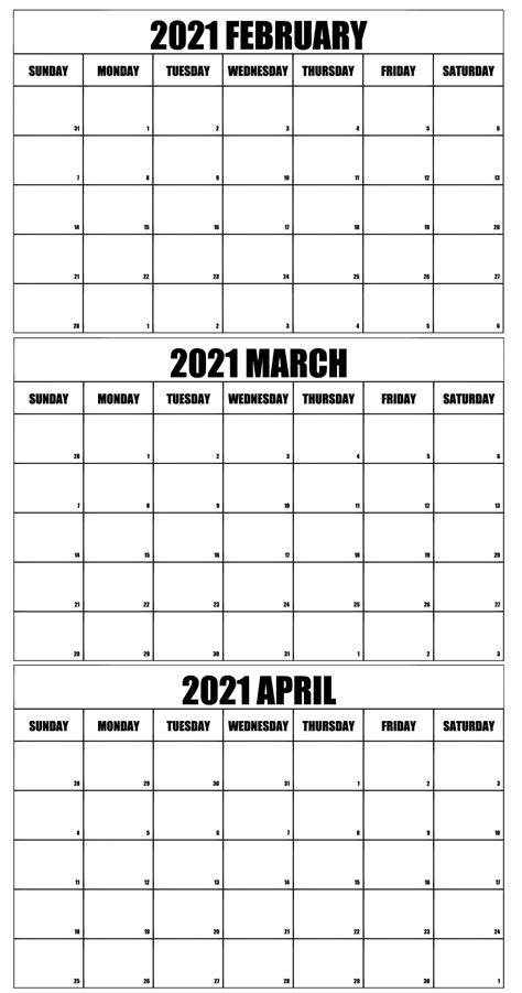 february march calendar printable  printable