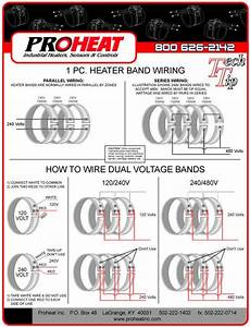 1piece Heater Band Wiring Diagrams Proheat Inc 502 2221402  Band Heater Wiring Diagram At Elf