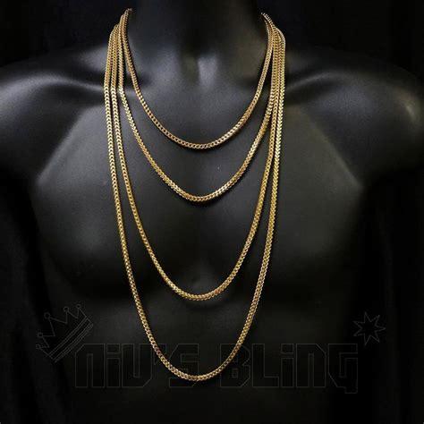 jesus necklace 18k 4mm gold franco chain niv 39 s bling