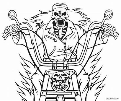 Ghost Rider Coloring Pages Printable Call Ghosts