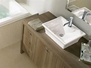 vasque salle de bain avec lavabo porcelaine carrelage With salle de bain design avec planche pour vasque