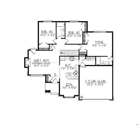 House Plan 97176 Ranch Style with 1480 Sq Ft 3 Bed 2 Bath