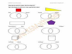 Shapes In Venn Diagram Graphic Organizer For 3rd