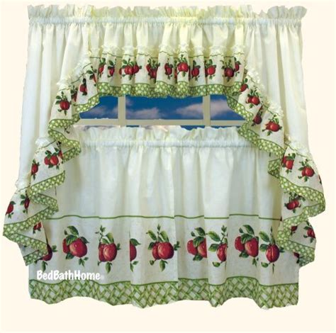 apple curtains apple kitchen curtains for log cabin homes