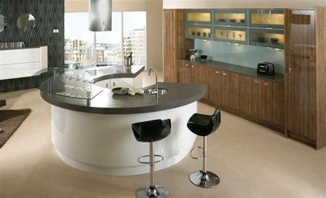 Modern Kitchen Designs With Curved Islands