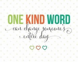 Sunday Encouragement: One Kind word