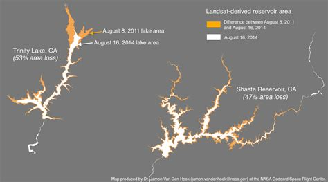 change bureau landsat reservoir imagery