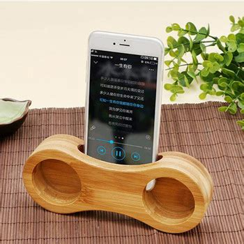 real sound bamboo solid wood mini portable speaker