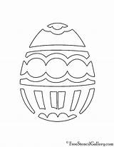 Easter Egg Stencil sketch template