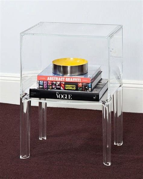 clear glass bedside table 1 shelf clear acrylic lucite bedside table nova68 com