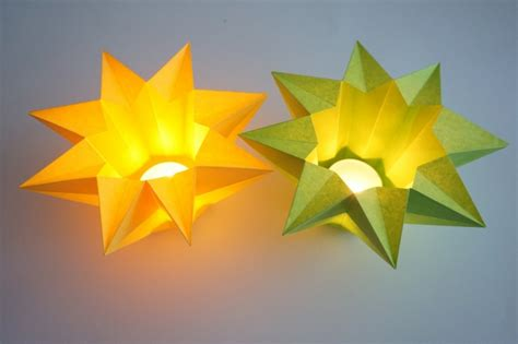 sterne falten aus papier sterne basteln mit kindern anleitungen und inspirierende ideen