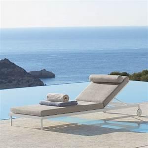Sonnenliege Mit Rollen : sonnenliege mit rollen in modernem design aus aluminium cleo ~ Buech-reservation.com Haus und Dekorationen