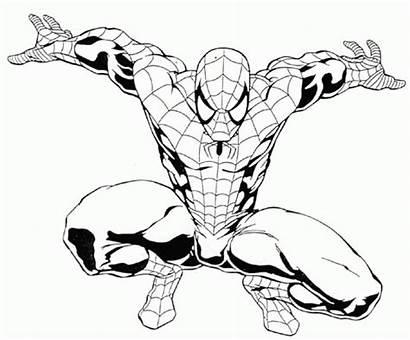 Spiderman Superhelden Kleurplaat Animaatjes Kleurplaten