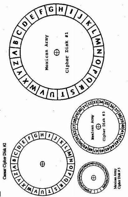 Cipher Printable Decoder Disk Wheel Secret Templates