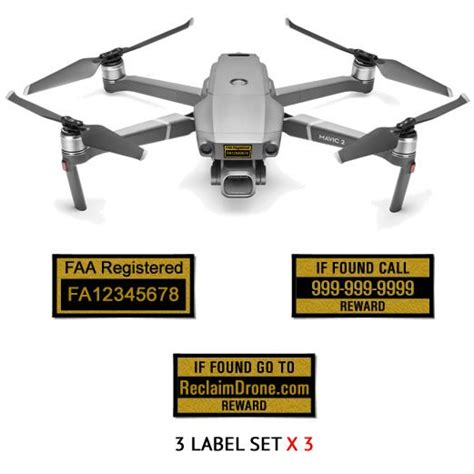 dji mavic  pro zoom labels  sets  faa uas