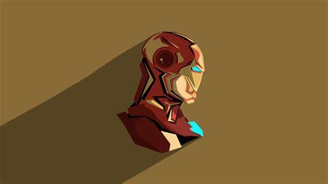 iron man pop head minimalism hd superheroes