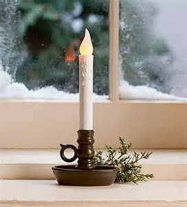 battery operated single window led window candle collection accessories